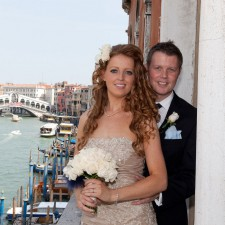 Registry office wedding in Venice city centre