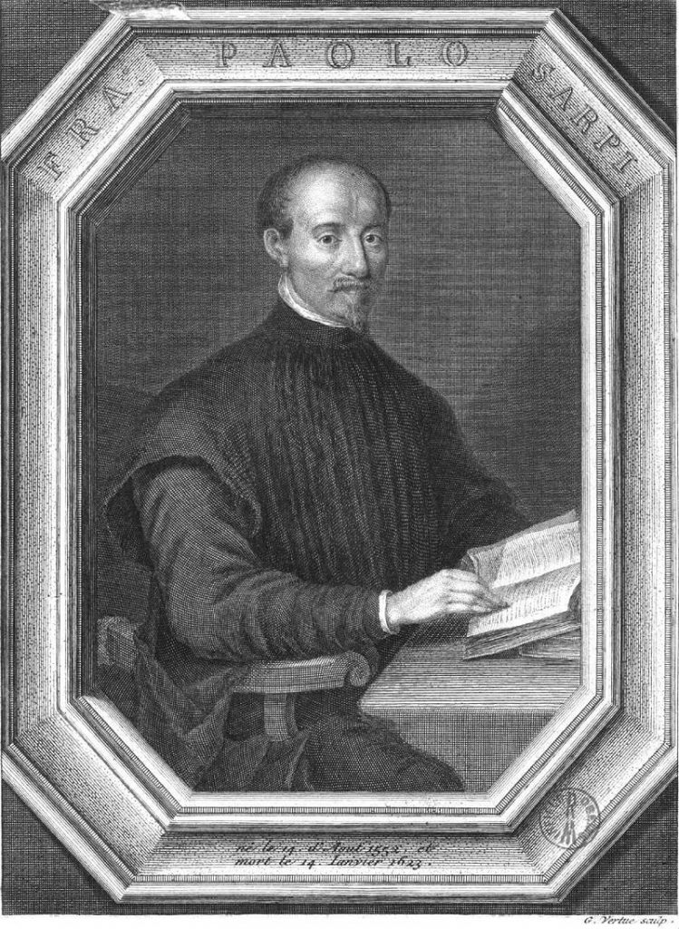 Engraving of Fra Paolo Sarpi