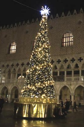 The Christmas tree in St. Mark's Square