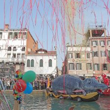 The Pantegana Explosion at the second part of the Venetian Festival on the water