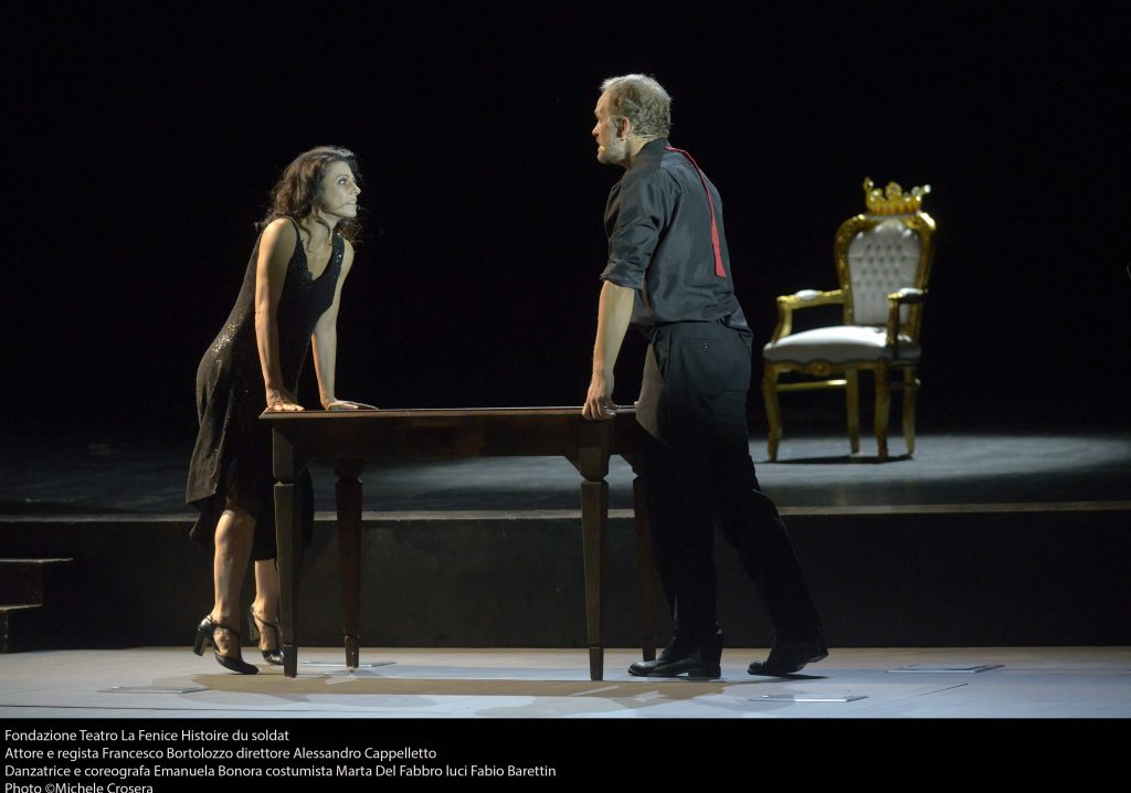 The Histoire du soldat by Igor Stravinsky inaugurates the new stage of the Malibran Theatre.